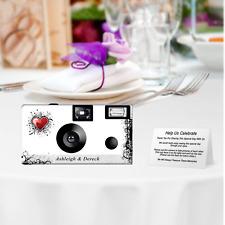 10 New Love Disposable Cameras-PERSONALIZE-wedding camera/anniversary (FJ3607)