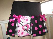 New Black white pink zebra spotted check Festival Skirt Lolita Party Gift