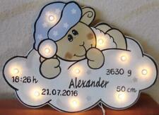 Schlummerlicht Sterne TRAUM SCHAF Lampe Geschenk Baby Geburt Taufe Name auch LED