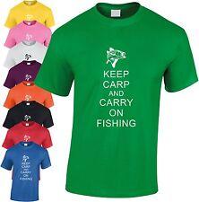 Mantener la pesca de carpa y llevar en Niños T-Shirt Kid's Angler Juventud Anzuelo