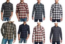 Weatherproof Vintage Men's Lightweight Plaid Flannel Long Sleeves Shirt