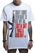 Mafioso Good Day Mens White T Shirt Tattoo Urban Streetwear