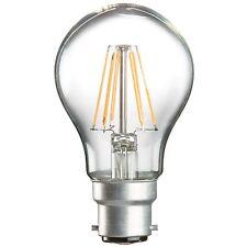 E27 B22 LED FILAMENT LIGHT BULB GLS LAMP CLEAR TRADITIONAL WARM WHITE 6W = 55W