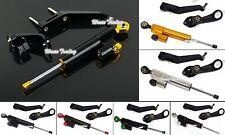 Steering Damper Bracket Mounting Kit Black For 2002-2003 HONDA CBR 954 RR SC50
