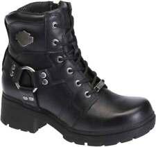 Harley-Davidson Women's Jocelyn 5.5-In Black Leather Motorcycle Boots. D83775