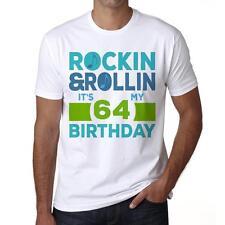 64th Birthday Tshirt, T-shirt d'anniversaire, Homme Tshirt Blanc, Cadeau Tshirt