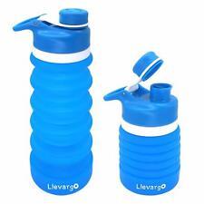 Collapsible Foldable Water Bottle Leak Proof Portable Reusable Sport Bottle 18oz