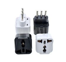 Universal Converter UK/US/EU/AU to Italy Travel AC Power Adapter Plug B/W