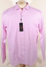 Ralph Lauren Black Label Pink & White Stripe Dress Shirt Italy 100% Cotton B2F