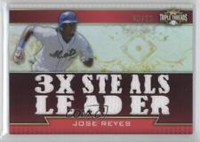 2011 Topps Triple Threads Relics #TTR-113 Jose Reyes New York Mets Baseball Card