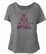 Def Leppard Pour Some Sugar On Me Womans Dolman T Shirt Heavy Metal Music