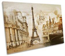 Paris France Landmarks Picture SINGLE CANVAS WALL ART Print