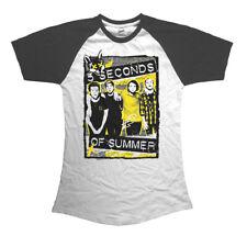 Official T Shirt 5 SECONDS OF SUMMER- SPLATTER All Sizes White Womens New 5SOS
