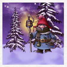 Gnome, l'hiver GNOME-Tissu Coussin CRAFT Panel