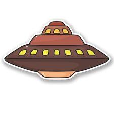 2 x UFO Alien Vinyl Sticker Laptop Travel Luggage Car #5450