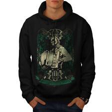 Wellcoda Hardcore Night Mens Hoodie, Accordion Casual Hooded Sweatshirt