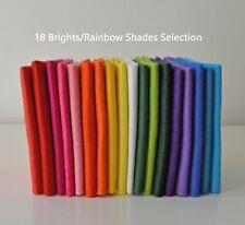 18 Brights Rainbow Bundle | Wool Mix Felt Pack | 18 Sheets | Size Options