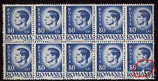 Romani, Michael,King Mihai,big white stain,MNH,block,royal,royalty