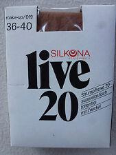 Silkona Live 20 Collants fins mat 20den Gousset Taille 36-46 collants NEUF