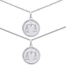 Pendentif Médaille Zodiaque BALANCE ARGENT NEUF+ CHAINE