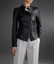 Women Leather Jacket Soft Solid Lambskin New Handmade Motorcycle Biker S M # 21