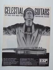 retro magazine advert 1982 ESP celestial guitars