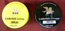 250ml(27,92€/1l) B & E Lederfett Lederpflege Fett Pflege Schutz Imprägnierung