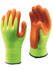 10 x Pares de Showa 317 Hi Vis Amarillo Fluorescente Seguridad Grip Guantes de trabajo