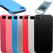 fibre de carbone inspiré CUIR PU Coque Étui Noir pour apple iphone 5,5S, Se