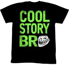 Troll Face You Mad Cool Story Bro Mens Black T-Shirt