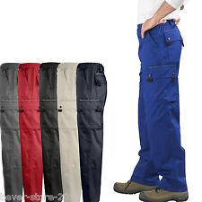 hombre pantalones de Trabajo Pantalón Cargo cintura talla especial XXS - 5xl 38-