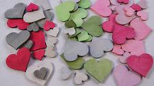 Herzen Herz Holzherz Tischdekoration Tischdeko Taufe Kommunion Hochzeit Farbwahl