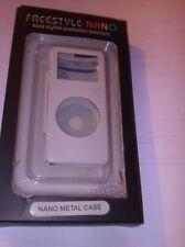 Ipod Nano Funda, Blanco, Metal, Nuevo Y En Caja Para Original Modelo Solo