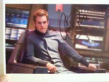 Chris Pine Autographed Star Trek 8x10 Photo