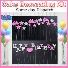 NEW PEPPA PIG DIY Birthday Cake Bunting Kit Decorating Kit Cake Topper