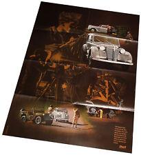 Opel Olympia 1947 Poster Beilage Opel Start 80er J. Auto PKW Deutschland Verkehr