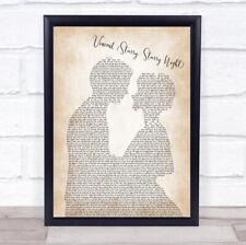 Vincent (Starry, Starry Night) Man Lady Bride Groom Song Lyric Print