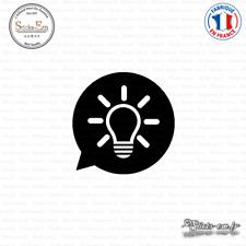 Sticker icône Ampoule Decal Prise - Interrupteur PR-016 Couleurs au choix