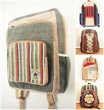 Hemp Sustainable Eco Backpack Bohemian Ethnic Unisex Patterned Laptop Bag