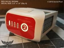 DJI Phantom 4 & Pro Adv Battery # Label Decal Sticker Skin Black Red Gold Silver