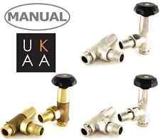 Stile antico manuale VALVOLE PER RADIATORI-Bradley tradizionale valvola per radiatori Set