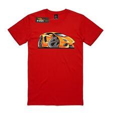 Men's T-shirt Lamborghini Aventador, supercar, AS Colour T-shirt, Yellow car.