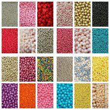 5g SAMPLE BAGS - Edible Sugar Pearl Balls/Dragees 4,6,8 & 10mm - MULTI  LISTING