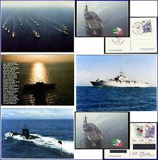 CARTOLINE MEZZI MARINA MILITARE-GUNBOATS ITALIAN NAVY-INCROCIATORI-NAVI ARMATE