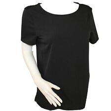 De marque femme manches courtes encolure échancrée polyester chemisier Top Choix De Couleurs
