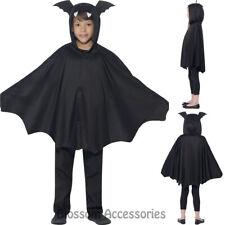 CK796 Kids Unisex Boys Girls Bat Hooded Cape Vampire Halloween Costume Outfit