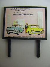 Ford Consul 315 - Model Railway Billboard - N & OO Gauge