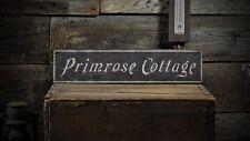 Custom Primrose Cottage Name Sign - Rustic Hand Made Vintage Wooden ENS1000678