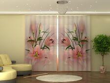"Fotogardinen ""Lilies"" Gardinen Fotovorhang Vorhang Photo Curtain 290cm x 245cm"