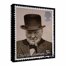 1974 British Stamp Winston Churchill Canvas Art Cheap Wall Print Home Interior